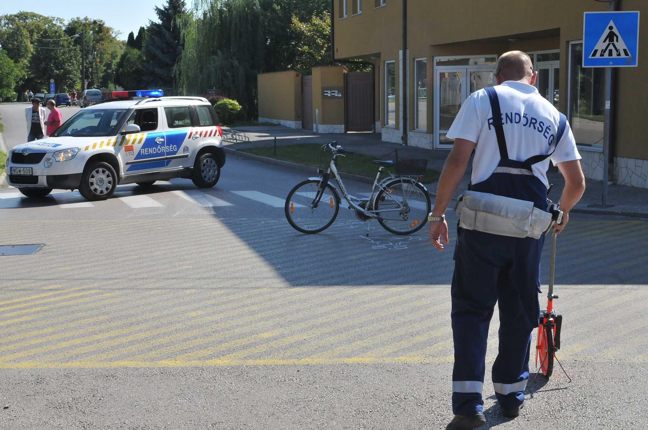 Súlyosan sérült a biciklis