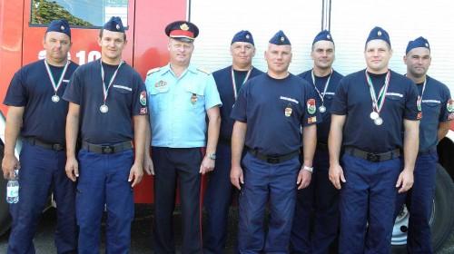 Az ország legjobbjai között a mosonmagyaróvári tűzoltók