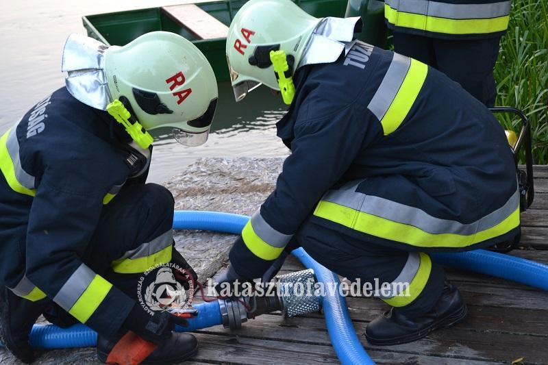 Gyakorlatozott a mentőcsapat
